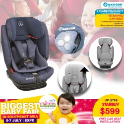 Maxi Cosi Titan Pro Carseat + Free 3 Years Warranty + Carseat Installation worth $80!
