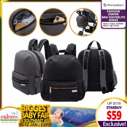 NEW LAUNCH!! Princeton Fashion Diaper Bag Featherlite Series (3 Colors Available)