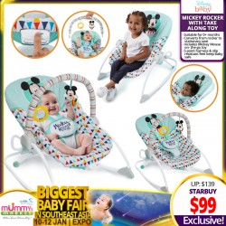 Disney Baby Mickey Rocker with Take-Along Toy