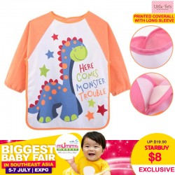 Printed Coverall with Long Sleeve (Full size bib)