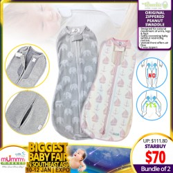 Woombie The Original Zippered Peanut Swaddle (Bundle of 2)