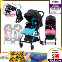 PUKU Twin Stroller (Blue / Pink)