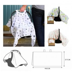 Carseat Muslin Cotton Canopy Cloth
