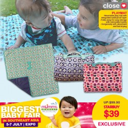 Close Parents Playmat *$35 ONLY for EARLY BIRD SPECIALS!