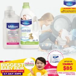MILTON Laundry Trio + FREE MILTON Antibacterial Wipes 30s(WORTH $4.50)