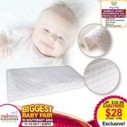 Ways Baby Premier Bamboo Jersey Waterproof Cot Protector (70x130cm)
