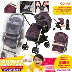 Combi Miracle Turn Elegant stroller + $100 Combi Voucher