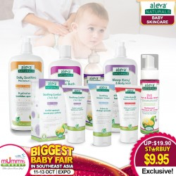 Aleva Natural Daily Skincare - (Soothing Moisturizer / Hair & Body Wash / Bubble Bath / Calming Lotion  / Diaper Cream) 50 Percent OFF!