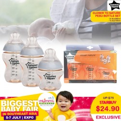 Tommee Tippee Closer to Nature PESU Bottle Set (2 x 260ml + 1 x 150ml) MORE THAN 65 Percent OFF!!