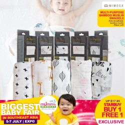 Mimosa Multi-purpose Bamboo Muslin Swaddle BUY 1 FREE 1 (3 Designs Available)!!!