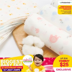Mooroo Multipurpose Embossing Gauze Cotton Swaddle