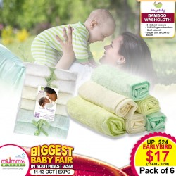 Ways Baby Bamboo Washcloth (6 pcs/pack)