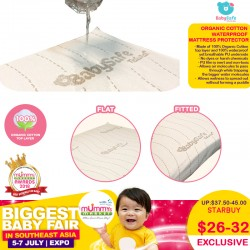 BabySafe Organic Cotton Waterproof Mattress Protector