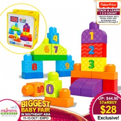 Mega Bloks Stack & Learn 123 Count Toy (Fisher Price)