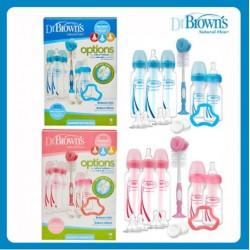 Dr Brown Options Narrow Neck (STD) Bottle Gift Set (BLUE/PINK)