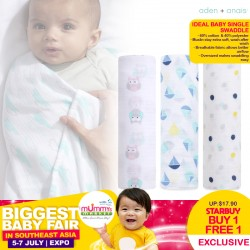 Aden + Anais Ideal Baby Single Swaddle (ASST Designs) BUY 1 Get 1 FREE!!