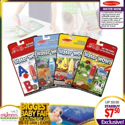 NEW LAUNCH!! Melissa & Doug On The Go Water Wow! Activity Pad (4 Titles Available)