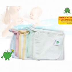 Crok Crok Frok Bamboo Wash Cloth (Each Pack 5pcs) Buy 1 Free 1