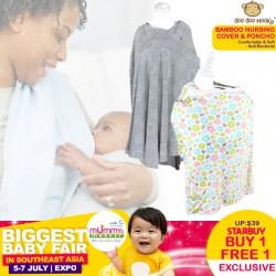 Doo Doo Mooky Bamboo Nursing Cover & Nursing Poncho (Buy 1 Free 1)