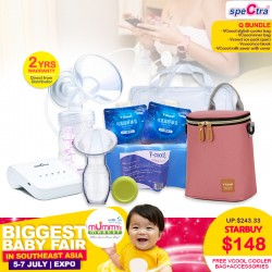 Spectra Q Breastpump Bundle With Freebies!! (LIGHTWEIGHT, PORTABLE) + Free 2 Years Warranty