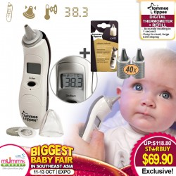 Tommee Tippee Digital Ear Thermometer with Digital Thermometer Refills