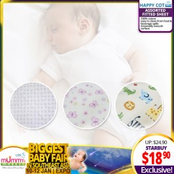 Happy Cot Assorted Fitted Sheet (100% Cotton)