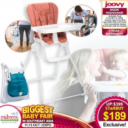 Joovy Nook Highchair + Free 1 Year Warranty
