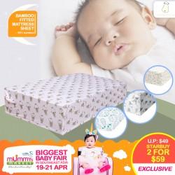 Baa Baa Sheepz Bamboo Fitted Mattress Sheet (BUY 1 FREE 1)
