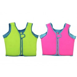 BabySpa Fabric Foam Vest (Green / Pink)