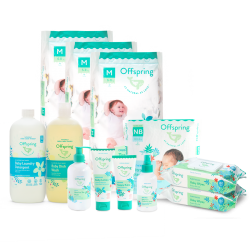 Offspring Ultimate Newborn Bundle ( Diaper Packs, Skincare Lotions & Laundry Wash)