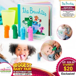 The Brushies Book with Different Colour Brushie (Baby Toothbrush)