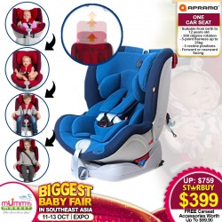 Apramo One Baby Carseat + FREE Carseat Accessories (Worth UP TO $69.90)