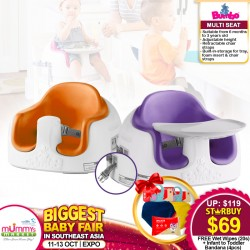 Bumbo Multi-Seat Baby Floor Seat FREE Snapkis Disinfecting Wipes + Infant & Toddler Bandana Bibs (4pcs) WORTH $58.50!!