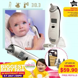 Tommee Tippee Closer To Nature Digital Ear Thermometer (FREE Digital Thermometer Refills WORTH $18.90!!)