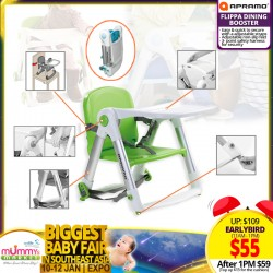 Apramo Flippa Dining Booster TOP UP $15 for Cushion!! *EARLY BIRD SPECIAL!!!