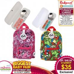 BabyMel Zip & Zoe Mini Backpack + Sugar Booger Utensils
