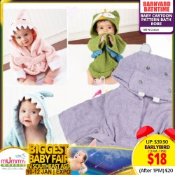 Barnyard Bathtime Baby Cartoon Pattern Bath Robe