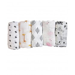 Mimosa Multi-purpose Bamboo Muslin Swaddle / Bamboo & Organic Cotton Luxury Swaddle
