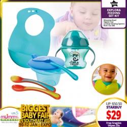 Tommee Tippee Explora Feeding Set Kit FREE Snapkis Disinfecting Wipes (20pcs)!!