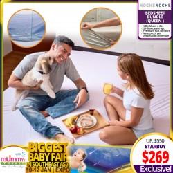 NocheNoche (Bed Sheetsx2 + Pillowcase x 4pcs) Queen Size - (Previously known as B.Sensible)