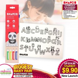 Snapkis FunMeals ABC / BEAR Colouring Placemat