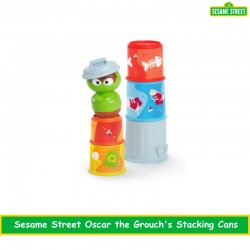 Sesame Street Oscar the Grouch'ss Stacking Cans Stackable Cups