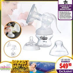 Tommee Tippee Express & Go Manual Breastpump