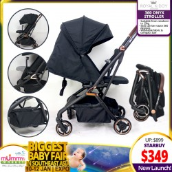 NEW LAUNCH!! Royal Kiddy London RK 360 Onyx Double Facing Stroller