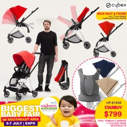Cybex Mios Bundle Deal!! (Seat & Frame + Color Pack 2 pcs ) FREE Cybex Yemaya Leather Baby Carrier (STARDUST BLACK) WORTH $599 + FREE Delivery!!