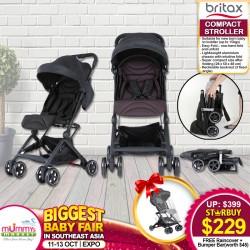 BRITAX Compact Stroller + Free Raincover + Bumper Bar(worth $45)