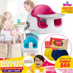 Bumbo Multi-Seat Baby Floor Seat FREE Snapkis Disinfecting Wipes + Infant& Toddler Bandanas (4pcs) WORTH $58.50!!
