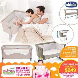 CHICCO Next2Me Co-Sleeping Crib + FREE 2pcs Swaddle Worth $39.90!!
