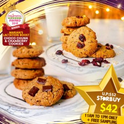 (2019 AWARD WINNER) Marian's Choco Chunk Cookies and Cranberry Cookies